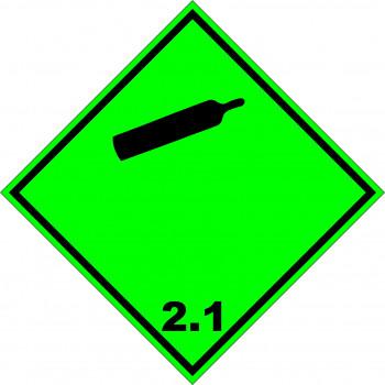 ADR bárca 2.1 Sűrített, cseppfolyósított vagy nyomás alatt álló gázok