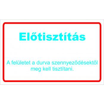 ANTSZ matrica - Előtisztítás