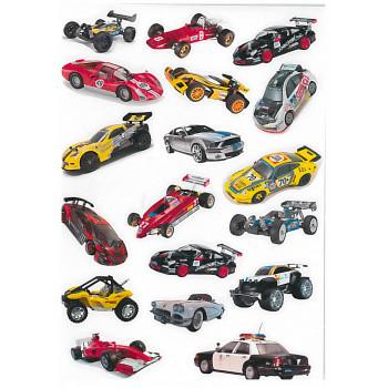 Gyerekmatricák A4 íven - Autók