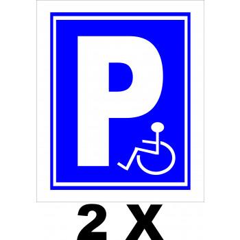 Mozgáskorlátozott parkoló 2x