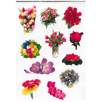 Gyerekmatricák A4 íven - Virágok