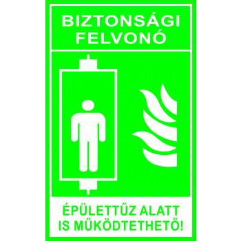 Biztonsági felvonó zöld