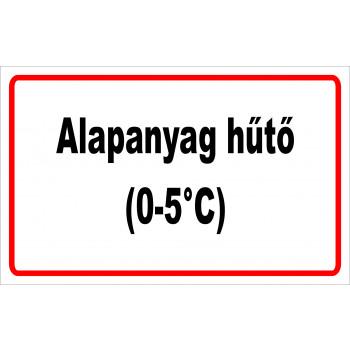 ANTSZ matrica - Alapanyag hűtő
