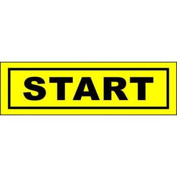 Start matrica sárga