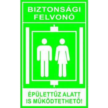 Biztonsági felvonó 2 zöld