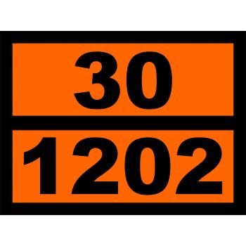 ADR veszélyt jelző szám nélkül narancssárga matrica számmal