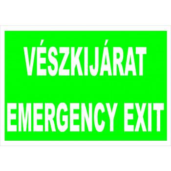 Vészkijárat / Emergency exit