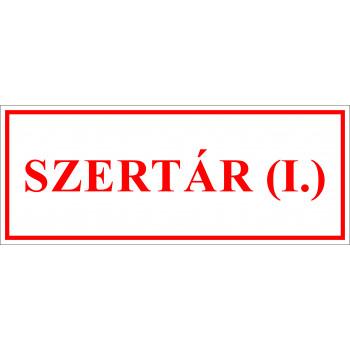 Sportegyesület matrica - Szertár I