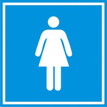 Női mosdó matrica