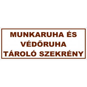 Munkaruha és védőruha tároló szekrény