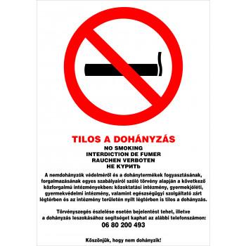 Tilos a dohányzás! új intézmény 02