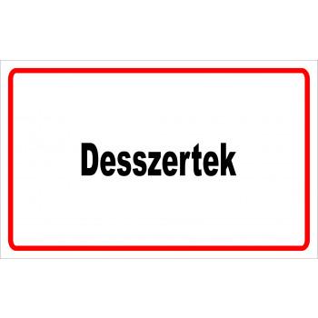 ANTSZ matrica - Desszertek