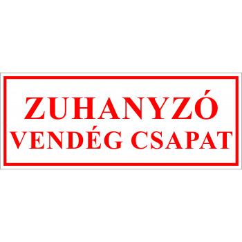 Sportegyesület matrica - Zuhanyzó  vendég csapat