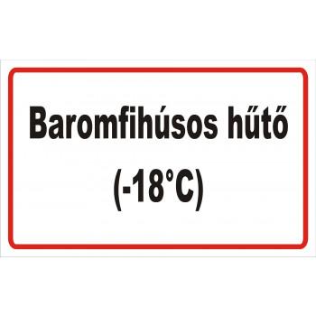 ANTSZ matrica - Baromfihúsos hűtő