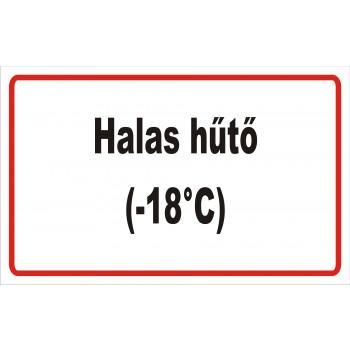 ANTSZ matrica - Halas hűtő -18C