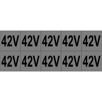42V 10 db/ív