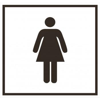 Női mosdó matrica 01