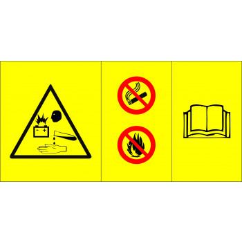 Akumulátor sav veszély, kézikönyv használat
