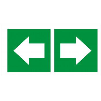 Menekülés iránymutató -  Balra