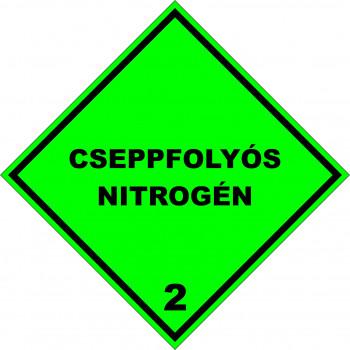 ADR bárca 2 Cseppfolyós nitrogén