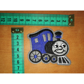 Felvasalható folt vonat kék