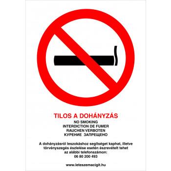 Tilos a dohányzás! új