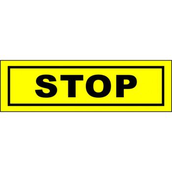 STOP matrica sárga