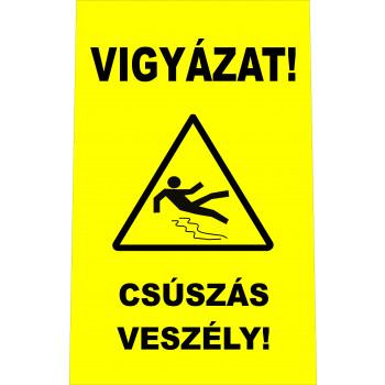 Vigyázat! Csúszás veszély!