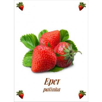 Eper pálinka címke