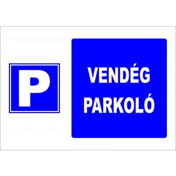 Vendég parkoló
