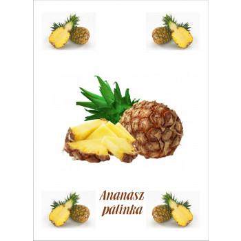 Ananász pálinka címke