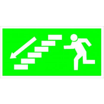 Menekülés iránymutató - Lépcső balra lefelé