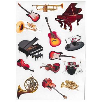Gyerekmatricák A4 íven - Hangszerek