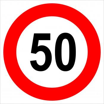 50 sebességkorlátozás matrica