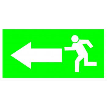 Menekülés iránymutató -  Balra előre