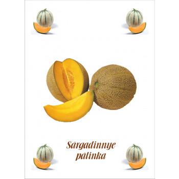 Sárgadinnye pálinka címke