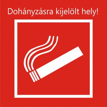 Dohányzásra kijelölt hely!