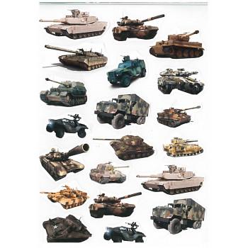 Gyerekmatricák A4 íven - Tankok