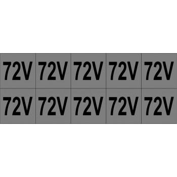 72V 10 db/ív