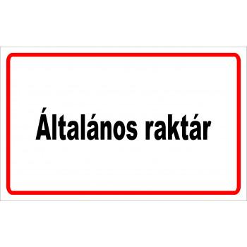ANTSZ matrica - Általános raktár