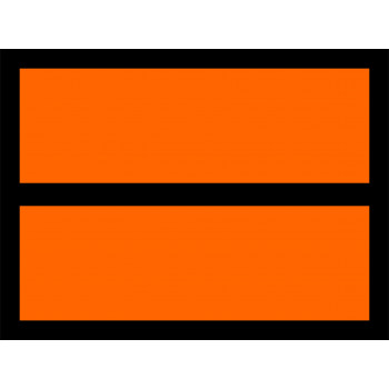 ADR veszélyt jelző szám nélkül narancssárga matrica sávval