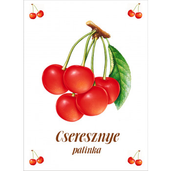 Cseresznye pálinka címke