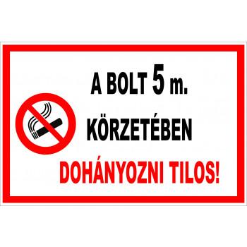 Bejárat 5 méteres körzetében tilos a dohányzás 02