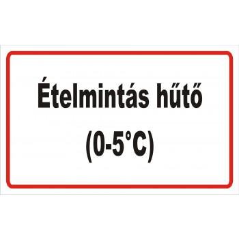 ANTSZ matrica - Ételmintás hűtő