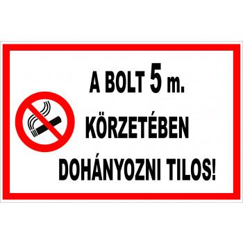 Bejárat 5 méteres körzetében tilos a dohányzás 01