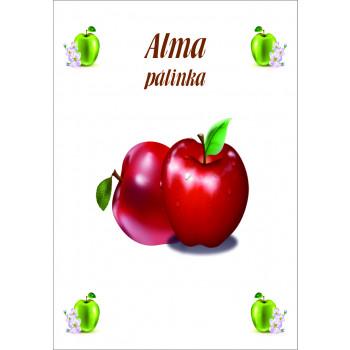Alma pálinka címke