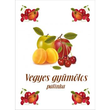 Vegyes gyümölcs pálinka címke