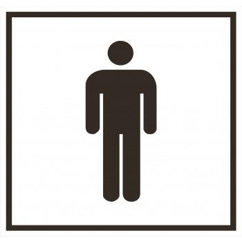 Férfi mosdó matrica 01
