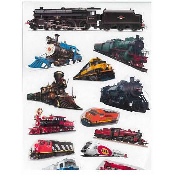 Gyerekmatricák A4 íven - Vonatok