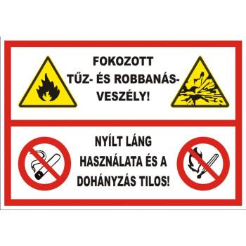 Fokozott tűz- és robbanásveszély